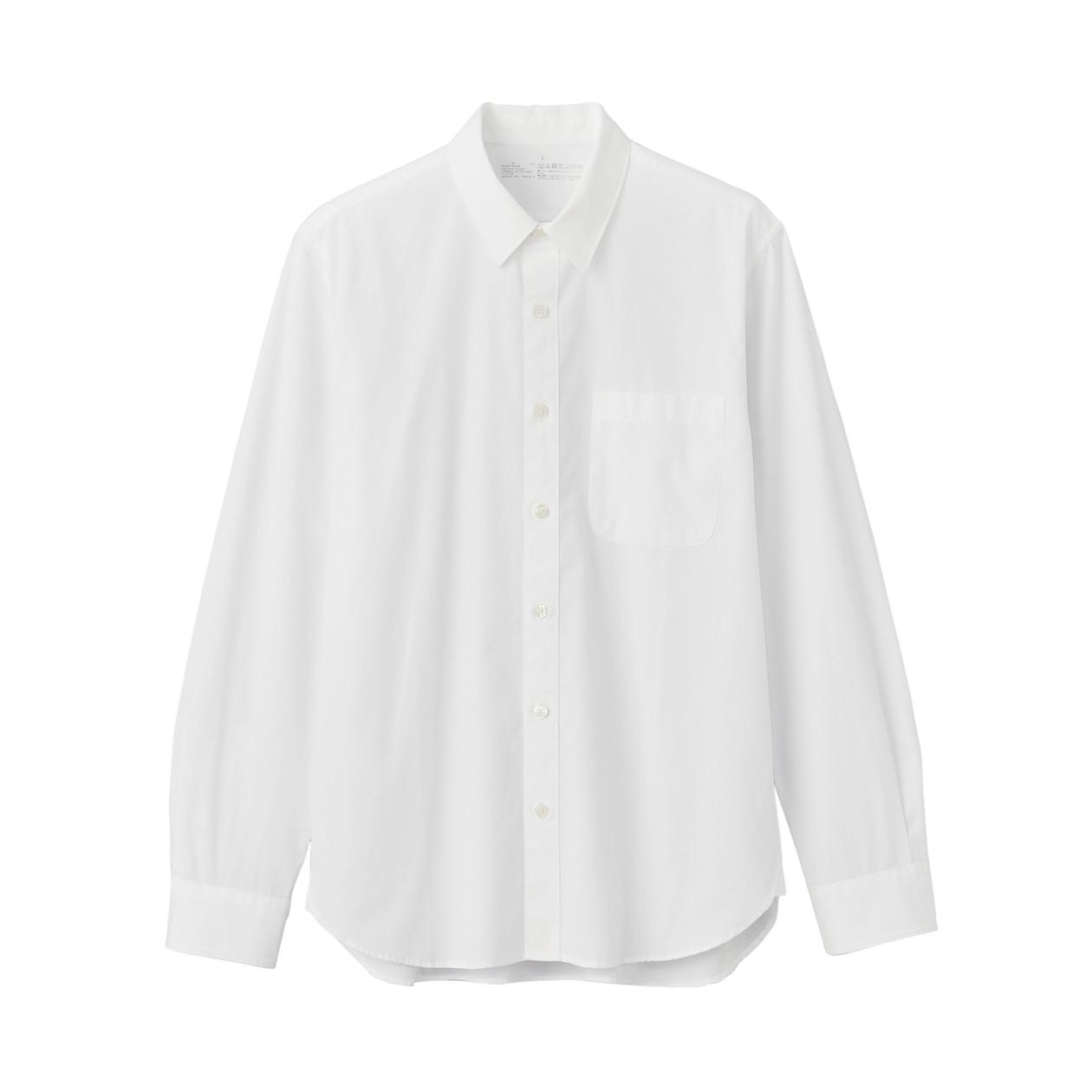 無印,白シャツ